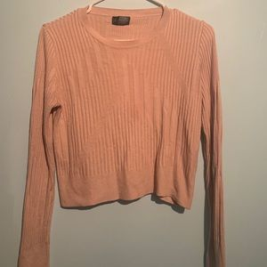 Top shop pink/salmon crop sweater